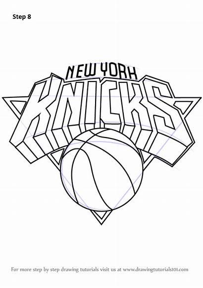 Draw Knicks York Drawing Nba Step Lakers