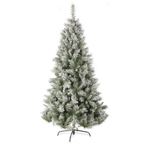 christmas tree 1 80m 6ft flocked snow princess pine