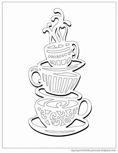 Coloring Cup Coffee Pages Tea Stack Colouring