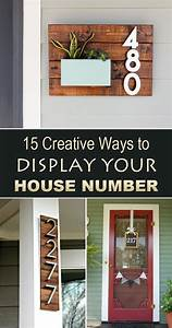 15 creative ways to display your house number diy house With exterior house letters