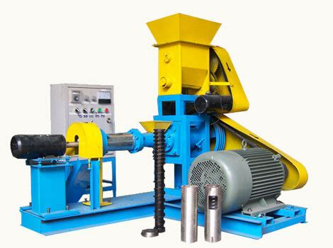 dry type fish feed extruder  making floating fish feed