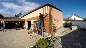 Garage Mit Holz Verkleiden : holzfassade thermo kiefer mit pac verlegesystem ~ Watch28wear.com Haus und Dekorationen