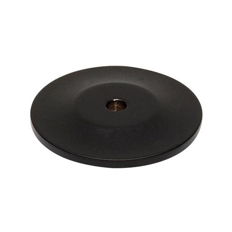 cabinet knob backplate black alno creations shop a815 45p mb knob backplate matte