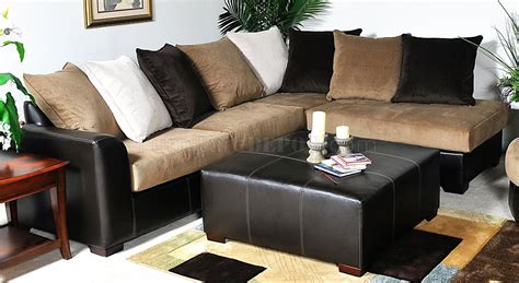 multi tone fabric modern sectional sofa woptional items