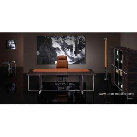 cognac bureau bureau de direction bernini droit finition ebene et cuir