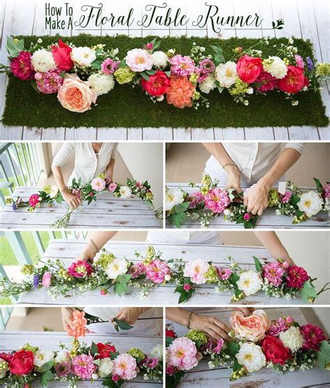 How To Make A Floral Table Runner Wedding Decor