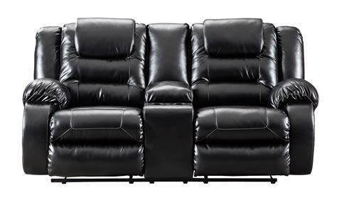 Reclining Console Loveseat by Vacherie Black Reclining Console Loveseat