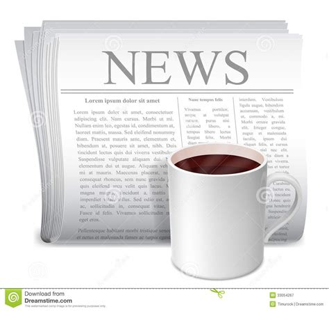Almost files can be used for commercial. Newspaper And Coffee Cup. Royalty Free Stock Photography - Image: 33054267