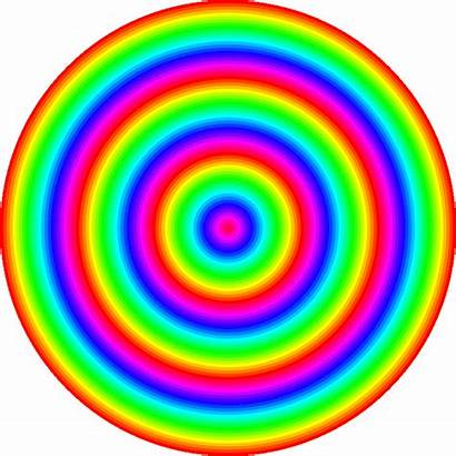 Rainbow Water Ripple Circle Animated Deviantart Rainbows