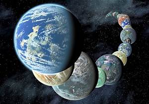 NASA illustration of planets discovered by the Kepler ...