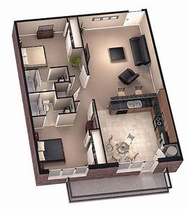 Tiny House Floor Plans | Brookside 3d floor plan 1 by ...