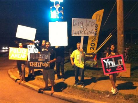 libertarians  protest dui checkpoints tonight abington