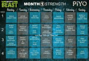 Piyo Body Beast Hybrid Workout Schedule