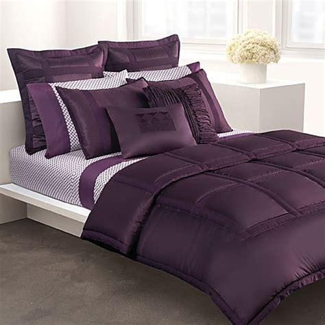 dkny lexington full queen mini comforter set amethyst