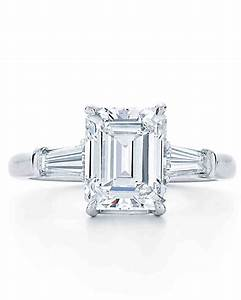 Elegant emerald cut engagement rings martha stewart weddings for Wedding band for emerald cut ring