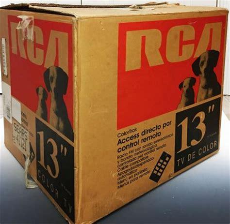 vintage 1990 s rca colortrak plus 13 quot crt color tv television e13254kw near mint ebay