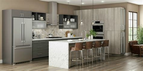 Frameless Cabinets - latitude cabinets at lowe s modern frameless kitchen and
