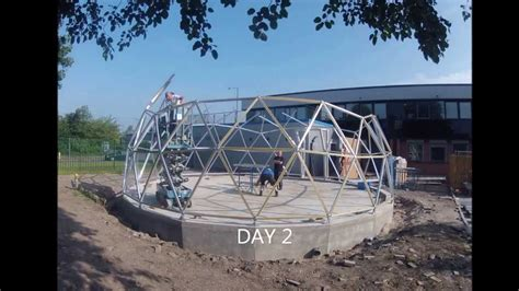 geodesic dome time lapse build  solardome pro architectural system youtube