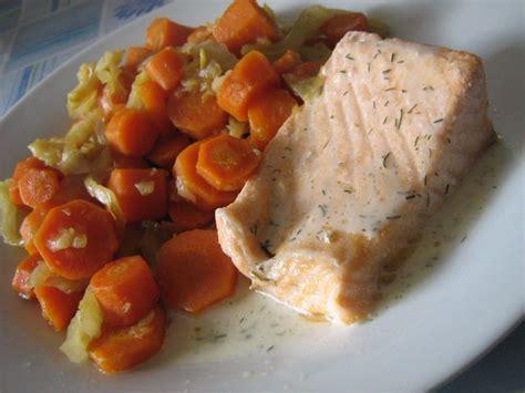 recette de cuisine regime recettes de saumon au fenouil et carottes regime mince