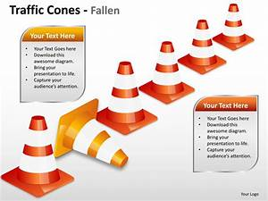 Traffic Cones Fallen Powerpoint Presentation Templates