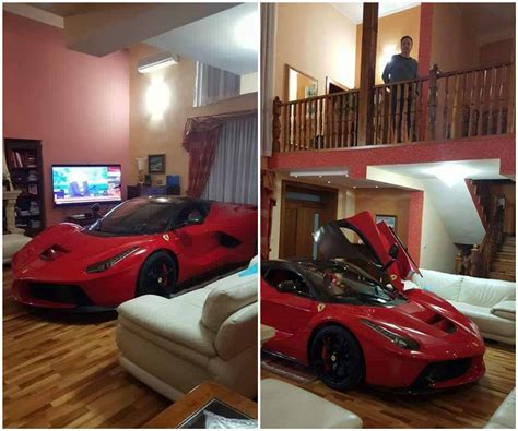 in the livingroom updated laferrari owner keeps his car in the living room