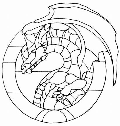 Stained Dragon Glass Pattern Patterns Dragons Mosaic