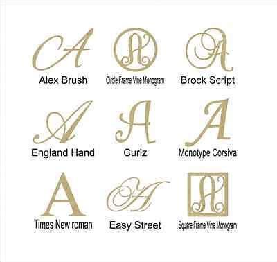 unfinished wooden monogram letter    choice  size  font  picclick