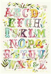 alphabet poster print watercolor typography nursery decor With poster letters to print