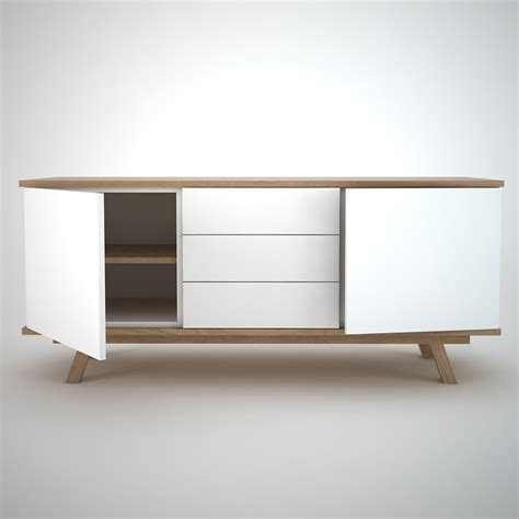 White And Oak Sideboard by Ottawa Sideboard 2 3 White Join Furniture