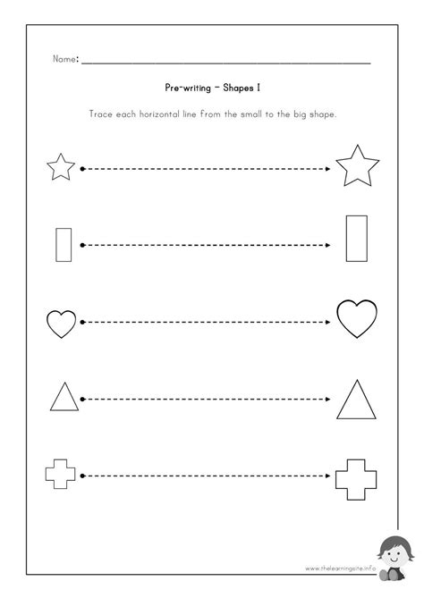 The Learning Site Prewriting Worksheets  Shapes  Preschoolteaching  Pinterest Learning