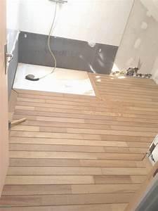 stunning salle de bain parquet pont de bateau gallery With parquet salle de bain blanc
