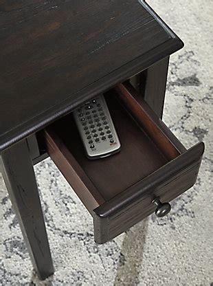 solid wood chairside  table  usb ports outlets