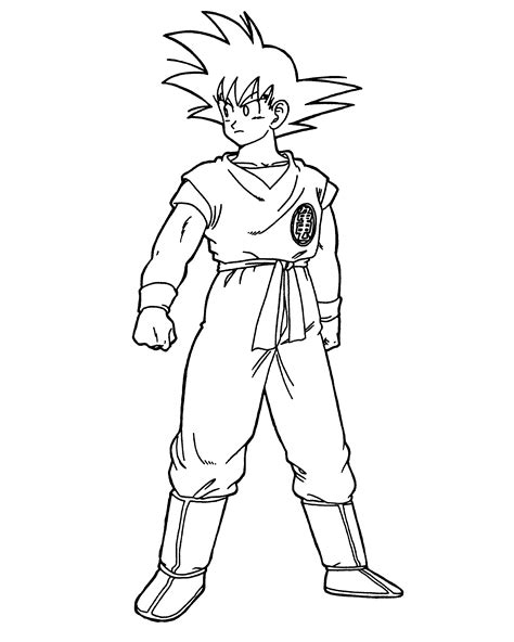 goku coloring pages    print
