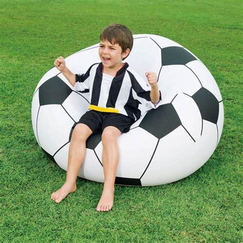 pouf gonflable ballon de foot maison fut 233 e