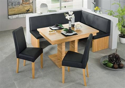 Kitchen Table Set With Bench by Black Leather Corner Bench Breakfast Booth Nook Kitchen