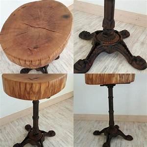Beistelltisch Eiche Rustikal : rustikaler tisch mit baumscheibe aus eiche baumtisch ~ Watch28wear.com Haus und Dekorationen