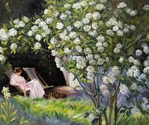 Peder Severin Kroyer Paintings for Sale,Rose Garden,Modern