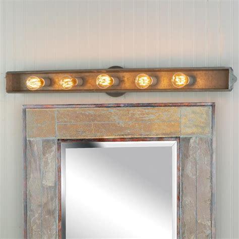 Galvanized Rustic Vanity Light  Bathroom Vanity Lighting