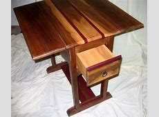 Old Drop Leaf Kitchen Table With Storage And Drawer Made