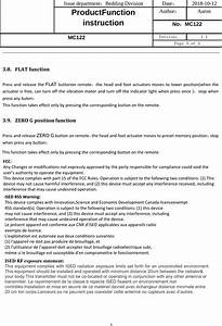 Keeson Technology Mc122 Control Box User Manual Mc122