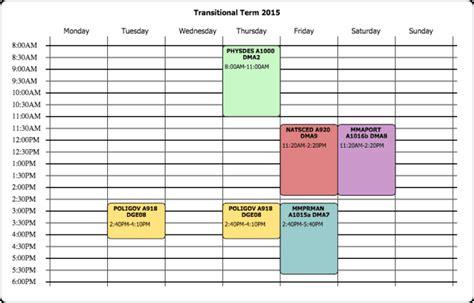 excel class schedule makers excel xlts