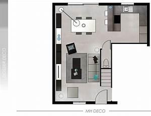 decoration salon 30m2 exemples d39amenagements With amenagement salon salle a manger 30m2