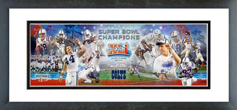 Super Bowl Xli Champion Colts Framed Picture