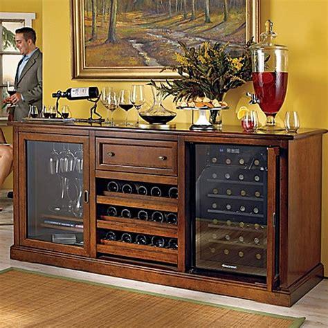 Wine Credenza Cooler - wine enthusiast 174 siena wine credenza in walnut www