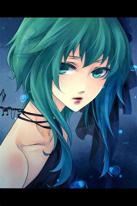 Anime Girl With Green Hair Wallpaper Your Pinterest