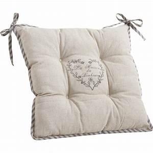 Chaise Tolix Maison Du Monde : coussin de chaise maison du bonheur ~ Melissatoandfro.com Idées de Décoration