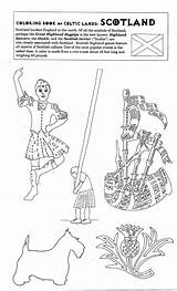 Scotland Colouring Pages Coloring Highland Games Canada Scottish Yahoo Castle Irish Activities Highlands Results Crafts Celtic Roof sketch template