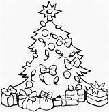 Coloring Christmas Tree Pages Presents Trees Gifts Ornaments Stunning Printable Lovely Decorations Santa sketch template