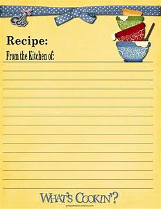 8 Best Images of Full Page Printable Recipe Cards - Free ...