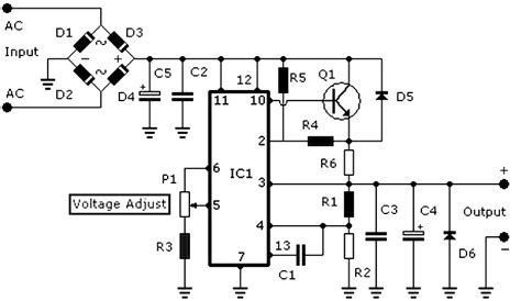 Stabilized Power Supply Circuit Diagram